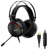 Tronsmart Glary Gaming Headphone 7.1 Virtual Surround Sound Colorful LED Lighting 50mm Driver Gaming Headphone for PC Switch XBOX PS4