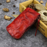 Unisex Made-old Washed Genuine Leather Personality Casual Multi-slot Clutch Purse Card Holder Wallet