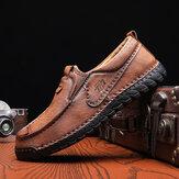Calçados masculinos de couro de couro respirável antiderrapante e confortável para barco executivo