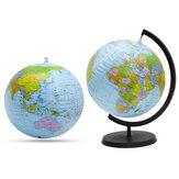 30 cm Gonflable Monde Globe Terre Carte Rotative Stand Géographie Carte Éducative Ballon De Plage Enfants Jouet Décorations De Bureau