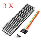 3Pcs MAX7219 Dot Matrix Module 4-in-1 Display Screen Geekcreit for Arduino - products that work with official Arduino boards