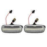 Dynamische vloeiende LED-zijindicator Repeaters lichten dubbele kleur op voor Audi A3 S3 A4 S4 A6 S6