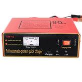 220V 6V / 12V 80AH Auto Motorrad Intelligent Batterie Aufladeeinheit Voller automatischer Negetive Puls