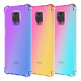 Bakeey Gradient Color with Four-Corner Airbags Shockproof Translucent Soft TPU Protective Case for Xiaomi Redmi Note 9S / Redmi Note 9 Pro Non-original
