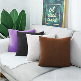 40*40cm Pillow Cover Chequered Velvet Thickening Cushion Cover  Home Decoration Sofa Bed Decorative Pillowcase