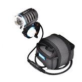 WUBEN B1 luz profissional para bicicleta XHP70.2 3600 lúmens de emissão contínua e recarregável à prova d'água lâmpada lanterna para bicicleta 6600mAh