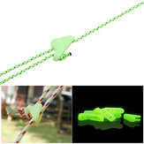 Outdoor Nightglow Luminous Rope Cord Fastener Adjustable Triangle Buckle Tent Canopy Accessories