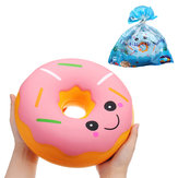 SanQi Elan Enorme Donut Squishy Jumbo 25 * 25 * 10 CM Soft Trage Rising Met Verpakking Collection Gift Decor Giant Speelgoed