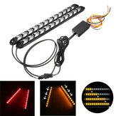 12V Agua corriente secuencial Flash LED Luces de giro de franja Ámbar rojo
