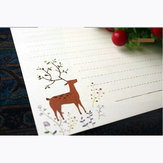 Vintage Lovely Elk Fairy Forest 10 folhas papel de carta 185x260mm