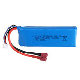 Wltoys 7.4V 2200mAh 20C 2S T Plug Lipo Battery for 124018 124019 144001 10428 10428A / B / C / A2 / B2/C2 K949 Rc Car