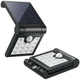 14 LED Solar Pared plegable de inducción Lámpara PIR Motion Sensor Aplique de pared Impermeable Solar Luz solar para decoración de jardín