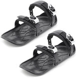 Mini Snow Skiing Skates Shoes Short Skiboard Shoes with Adjustable Bindings Easy Storage Winter Portable Snowboards