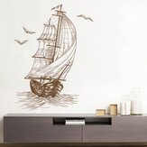 Sketch Sailboat Living Room Video Wall Décoration Chambre Enfants Chambre Peintures murales 40 * 60CM