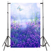 Purple Butterfly Lavender Photography Backdrop Background For Studio Photo