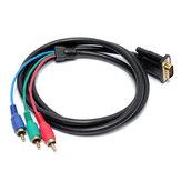 1.5M VGA إلى 3 RCA Male AV فيديو Converter محول صوت Cable for الكمبيوتر TV HDTV