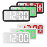 LED Digital Alarm Clock Mirror Table Display Temperature Snooze Room Wake up USB