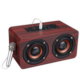 Holz Stereo Bass Bluetooth 4.2 Lautsprecher Audio Music Box mit Mini-Mikrofon