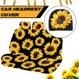 Single Car Headrest Cover Sleeve Universal Sunflower Printed Polyester Protective Van