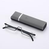 Half Frame Pen Holder Portable Durable Light Weight Resin Reading Glasses Gray Anti Blue Light
