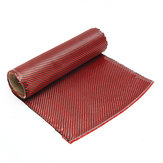 1m 3K 200g Red Carbon Fiber Hybrid Fabric Cloth Twill Weave Cloth High Strength for Building Bridge Construction Repair