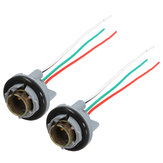2Pcs Turn Light Brake LED Bulb Socket Connector Wire Harness for 1157 BAY15d