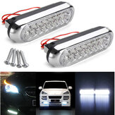 2PCS 12V 2W Car Daytime Running DRL Fog White 16 LED Light Lamp