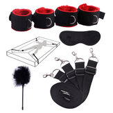5pcs Sex Toys For Woman Men BDSM Bondage Set Under Bed Erotic Restraint Handcuffs & Ankle Cuffs & Eye Mask Adults Games for Couples