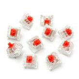 10 szt. Czerwony przełącznik mechaniczny z serii RGB do mechanicznej wymiany klawiatury Cherry MX