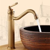 Tall Antique Bathroom Kitchen Sink Basin Faucet Hot & Cold Water Mixers Tap Single Handle