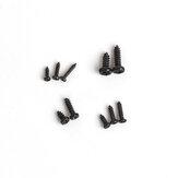 1000pcs Black Zinc Plated Round Head Self Tapping Screw Kit M1 M1.2 M1.4 M1.7 for RC Airplane Fixed-wing