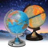 Verlichte lamp roterende wereld Aarde Globe Oceaan bureau Globe LED nachtlampje