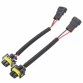 2PCS 9006 To H11 H8 Headlights Conversion Connector Wiring Harness Plug Cable Wires Cables