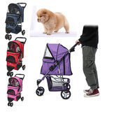 DOOGO One Step Folding Pet Dog Pram Trolley Stroller 3-Wheels Outdoor Travel Puppy Carrier Dog Cat Pushchair