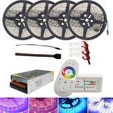 4*5M SMD5050 Waterproof LED Strip Light + 2.4G RF Remote Controller + Lighting Transformer Kit DC12V