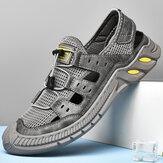 Мужчины Повседневная дышащая легкая нескользящая обувь с закрытым носком Soft На открытом воздухе Sports Сандалии