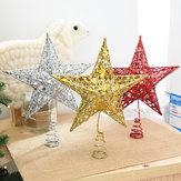 Arbre de Noël Topper Star En Plastique De Noël Étoiles Arbre Topper pour Noël Table Décor Coloré Artisanat DIY Accessoires
