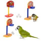 3pcs aves de estimação mastigar periquito brinquedos bolas sino papagaio passarinho cesta de basquete prop