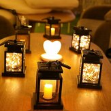 Lanterna solar suspensa luz de corda feericamente LED para pátio externo e pátio com lâmpada de decoração