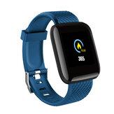 Bakeey D13 1.3 Inch Pantalla a color Pulsera táctil HR Presión arterial Monitor Mensaje visible Mostrar reloj inteligente