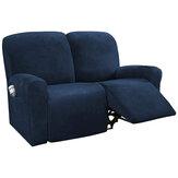 2シーターベルベットソファカバー伸縮性のある取り外し可能な椅子シートプロテクターストレッチスリップカバーサイドポケット付きホームオフィス家具アクセサリー装飾