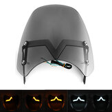 Universal LED Front Fairing Windshield Motorcycle Windscreen Fitting 5