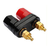 Pasangan Terminal Merah Hitam Connector Amplifier Binding Posting Banana Plug Speaker Jack