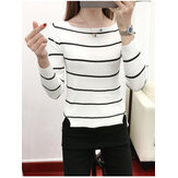 Women's Fashion Striped Casual Long Sleeve Sweaters