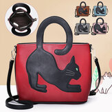 Donna in ecopelle Cute Cat Modello Borsa a tracolla casual Borsa