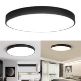 12W 18W 24W 5CM Warm / Cold White LED Lámpara de techo Black Mount Fixture para Home Bedroom Living Room