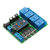 4 Channel For Pro Mini Expansion Board Diy Multi-Function Delay Relay PLC Power Timing Device