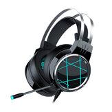 Heir Audio V5 Игровая гарнитура 7.1 Канал 50 мм, блок RGB Colorful Light 4D Surround Sound Эргономичный Дизайн Всенаправленное шумоподавление на 360 ° Микрофон