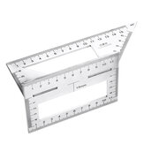 45/90 Degree Stainless Steel Woodworking Scribe T-shaped Ruler Multifunctional Square Angle Ruler Angle Gauge