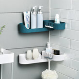 Bakeey Rotatable Storage Rack Bathroom Organizer Wall Mounted Kitchen Storage Shelf Shower Rack Holder